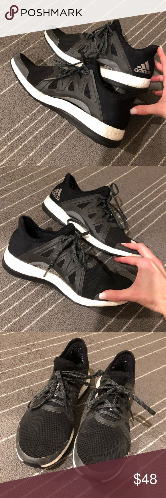 👟Adidas Pure Boost Black Sneakers 8👟 Adidas Pure Boost Endless Energy Sneakers. Color is black. Worn a few times. Size 8. adidas Shoes