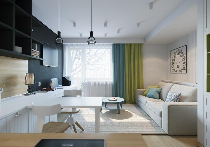 Интерьер маленькой квартиры может быть оригинальным и уютным, главное творчески подойти к оформлению дизайна и умело распределить расположение зон и фурнитуры.
