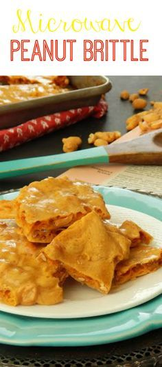 EASY and FAST microwave peanut brittle recipe. Quick to make but still has all the yummy flavors like grandma used to make. This is your Christmas peanut recipe for holiday desserts!