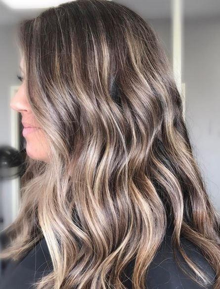 blonde highlights on brunette