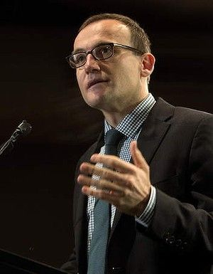 Deputy Leader Adam Bandt speaks at the launch of the Australian Greens federal election campaign.