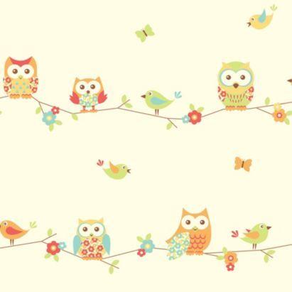 Owl Wallpaper, 5011419301768 | Baby essentials | Nursery ...