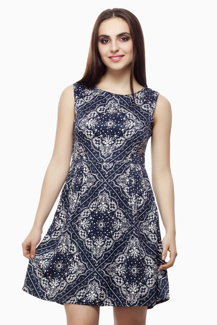 Beautiful Printed Dress from Miss Queen shop Online @ Jabong,Flipkart, Voonik, Paytm, Limeroad
