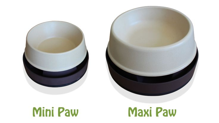 The bowls are separate from the non-skid base which makes it easy for removal and cleaning.