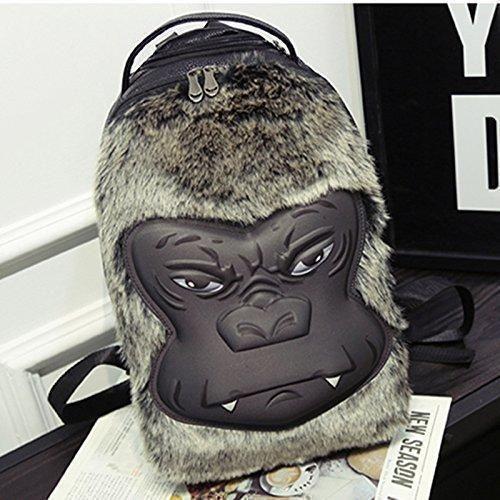 Oferta: 51€. Comprar Ofertas de GG Simios 3D mochila coreanas tendencias para hombres y mujeres estudiantes personalidad Pu bolso gran capacidad mochila nuev barato. ¡Mira las ofertas!