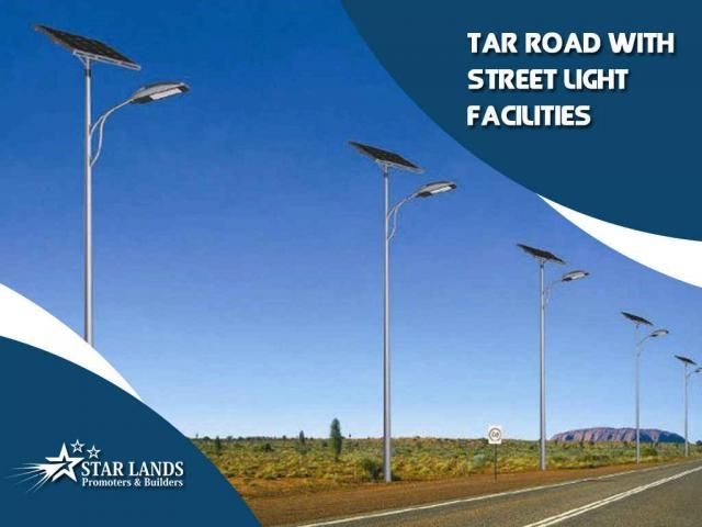 Stream Of Facilities We construct homes that could reflect your taste and style. We are specialized in providing a stream of #facilities like tar road and street light for your residencies Just call : Star Lands Promoters & Builders 95006 45566