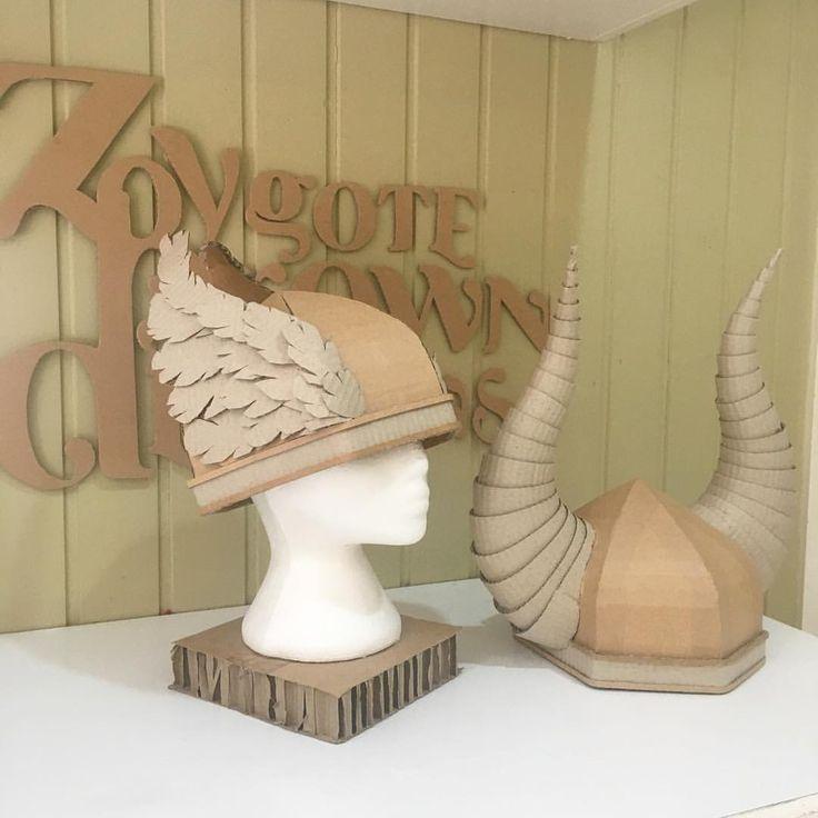 DIY Cardboard Viking Helmets - Zygote Brown Designs