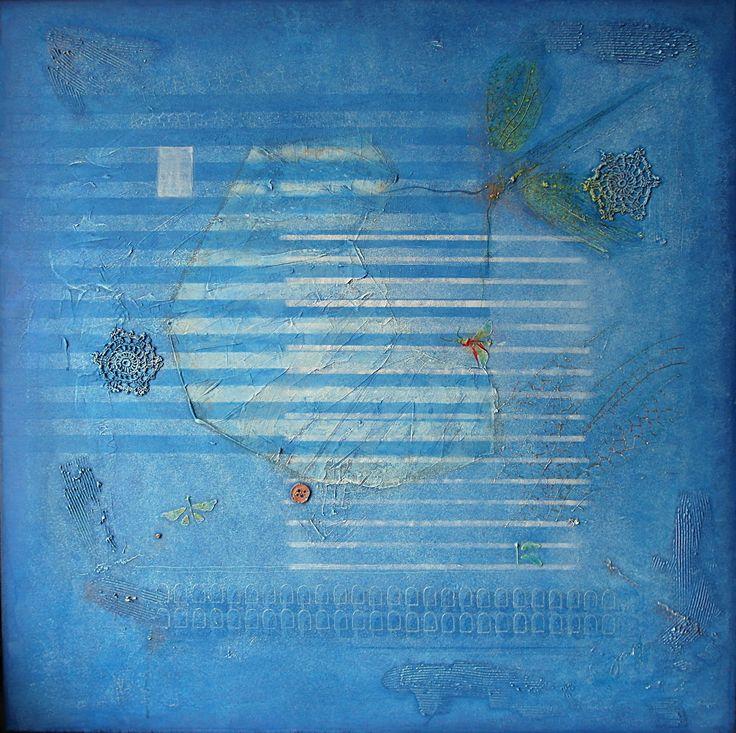6-2015, 90x90 cm, mixed media on canvas