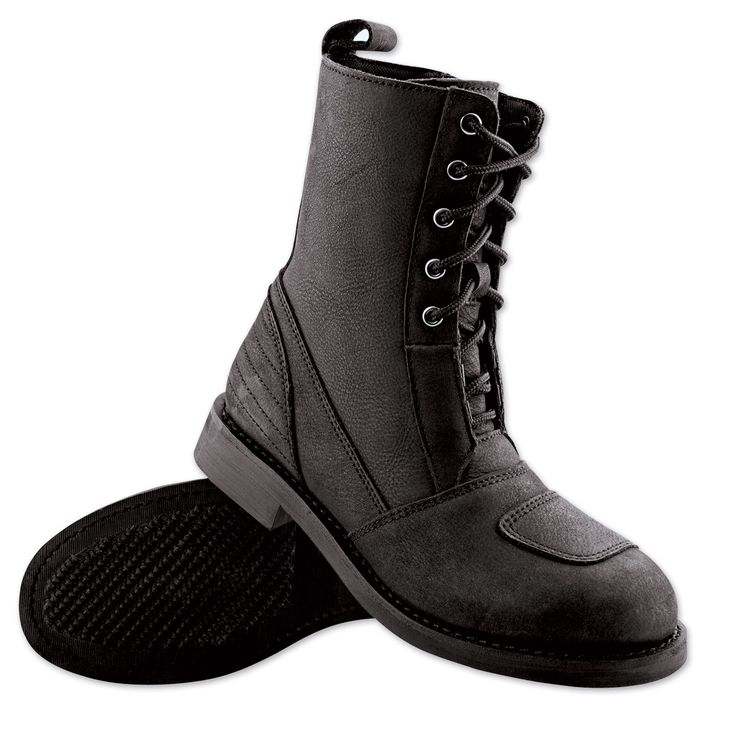 Speed and Strength Smokin' Aces Ladies Black Leather Boots | 163-422 | J&P Cycles