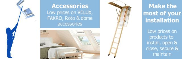 Save on VELUX, FAKRO, Roto & dome accessories at Sterlingbuild.co.uk.