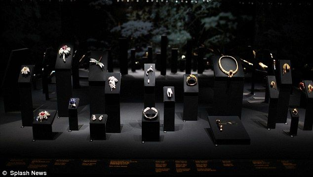 Dazzling display: Nearly 400 pieces from the historic Cartier Collection are on show Daily Mail