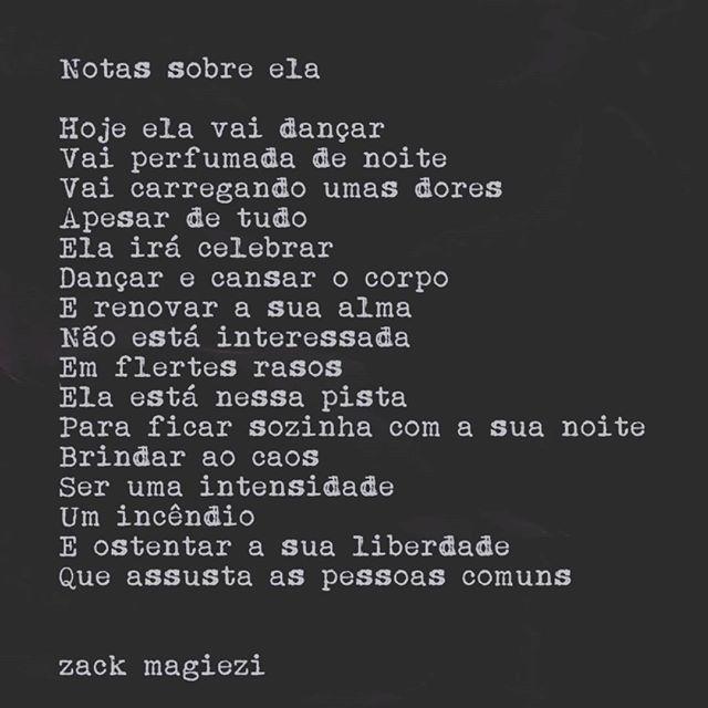 Zack Magiezi✨  Notas sobre Ela - Instagram @zackmagiezi