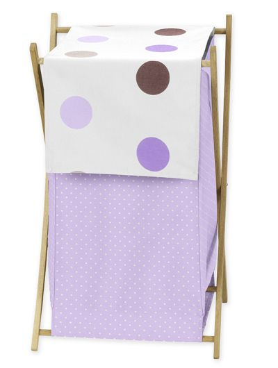 Purple and Brown Mod Dot Childrens and Kids Modern Clothes Hamper