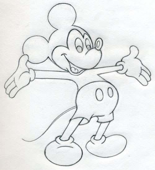 Mickey Mouse zeichnen - Anleitung-dekoking-com-4