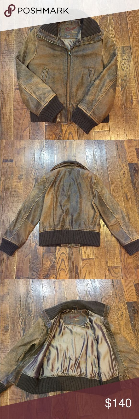 Vintage Brown Leather Bomber Jacket Vintage brown leather bomber in size Small. Leather is beautifully worn in and supple. No scratches, marks, or tears. Rogue Leather Jackets & Coats