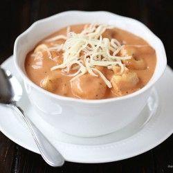 Creamy tomato tortellini soup I Heart Nap Time