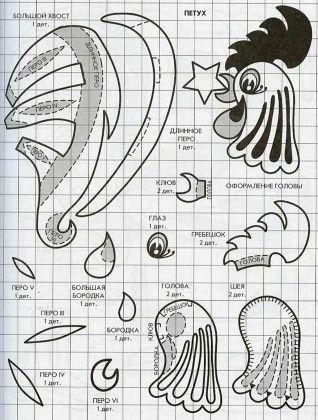 Китайский гороскоп из фетра. Идеи и выкрйки. Вторая часть :: Текстильные куклы и другие рукоделки Людмилы Щербины