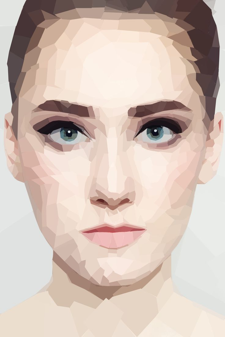 Technical Images // Photoshop Distortion // Geometric Low Poly Portrait
