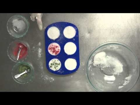 DIY Messy Cupcake Bath Bombs- EW Kitchen Chemistry