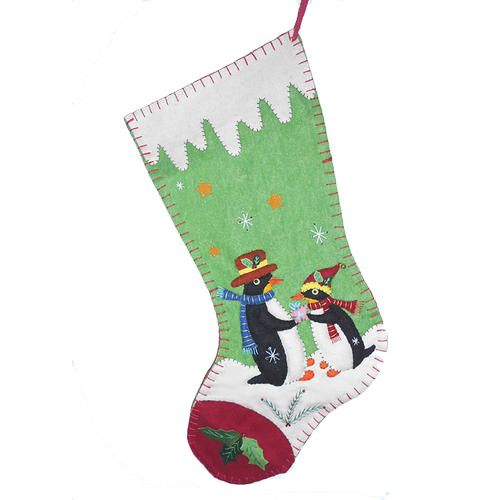 Penguin Couple Christmas Stocking