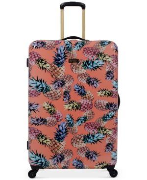 "Jessica Simpson Pineapple Hardside 29"" Spinner Suitcase - Pink"