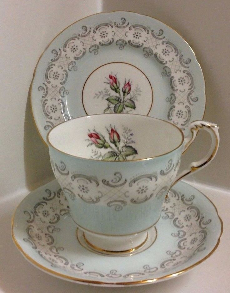 "Paragon English Bone China Hand Painted Flowers ""Radstock"" Pattern Tea Set Trio. | eBay"