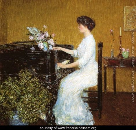Frederick Childe Hassam At the Piano
