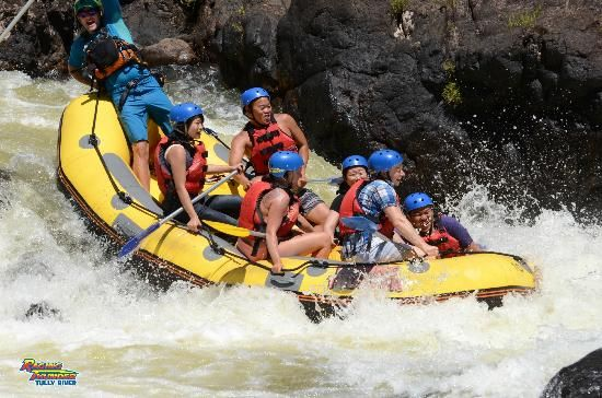 Raging Thunder - Tully River Rafting from $189 Call Us 1300 731 620 or visit http://www.fnqapartments.com/tour-raging-thunder-tully-river-rafting/area-cairns/ #cairnstour
