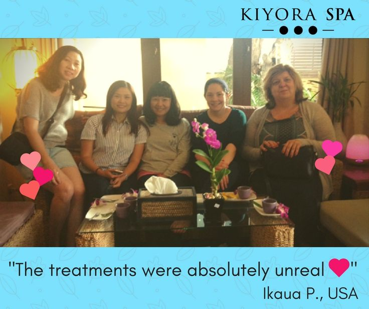 Ikaua P. and friends from the #USA were super delighted with our services.   Read what others had to say about their Kiyora experience - - > https://kiyoraspa.com/reviews/ . . . . . . . . . . . . . . . #luxuryspa #dayspa #thailand #chiangmai #serviceexcellence #kiyoraspa #relaxation #massage #wellness #treatments #therapeutic #wellbeing #thailandonly #amazingthailand #explorethailand #bodywrap #aromatherapy #herbalcompress #deeptissue #bodyscrub #spatreatments #spa
