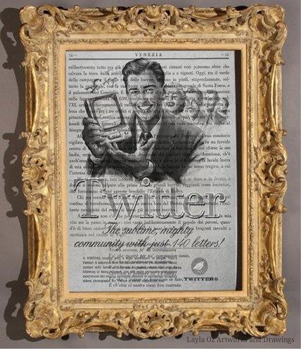 Stampa vintage twitter