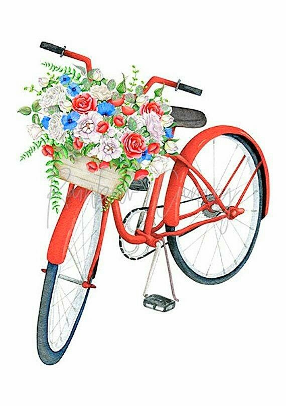 Pin by ALBANO .R. on gedichte | Bicycle painting, Bike drawing, Shop art  prints