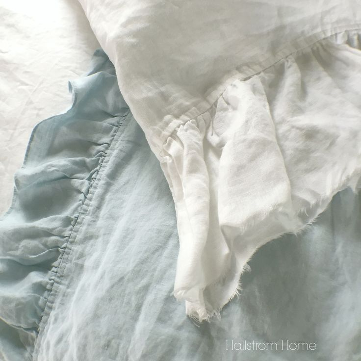 This frayed ruffle pillowcase in pure linen fabric adds a soft romantic vintage style to any room. Flax fiber is soft to the touch and becomes even softer with each washing. This vintage washed linen