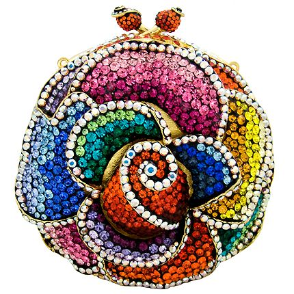 Swarovski Crystal Round Flower Clutch <3<3<3LOADS OF VIBRANT COLOUR & BLING<3<3<3ADORE THIS :) @