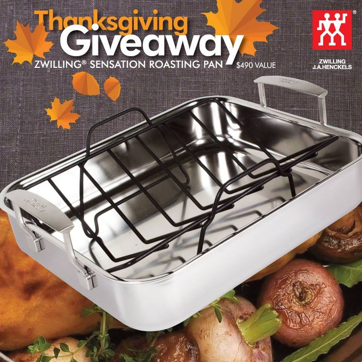 Enter to win a ZWILLING Sensation Roaster, valued at $490 Rules: Residents of Canada Excludes Quebec Age of majority Single