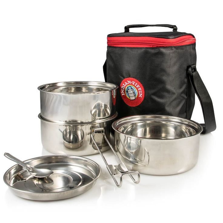 3-Tier Insulated Tiffin with Thermally Insulated Bag