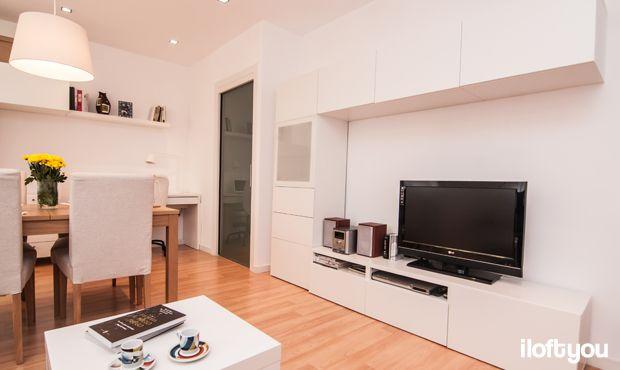 #proyectoserraiarola #iloftyou #interiordesign #ikea #barcelona #lowcost #livingroom #diningroom #bjursta #jara #henriksdal #besta #micke #lack