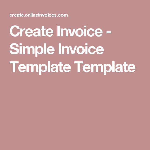 Más de 25 ideas increíbles sobre Create invoice en Pinterest - invoice simple