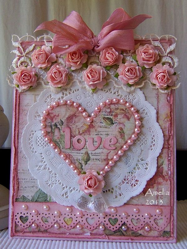 "A ""Shabby"" Heart card by Amelia (Stamped for the Occasion)"