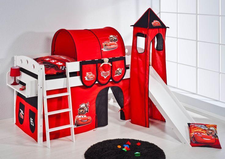 Kinderhochbett DISNEY CARS mit Rutsche und Turm | Lilokids.com