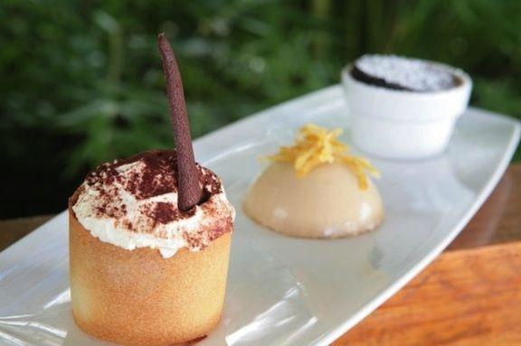 Dessert at the famous Daphne's Restaurant.
