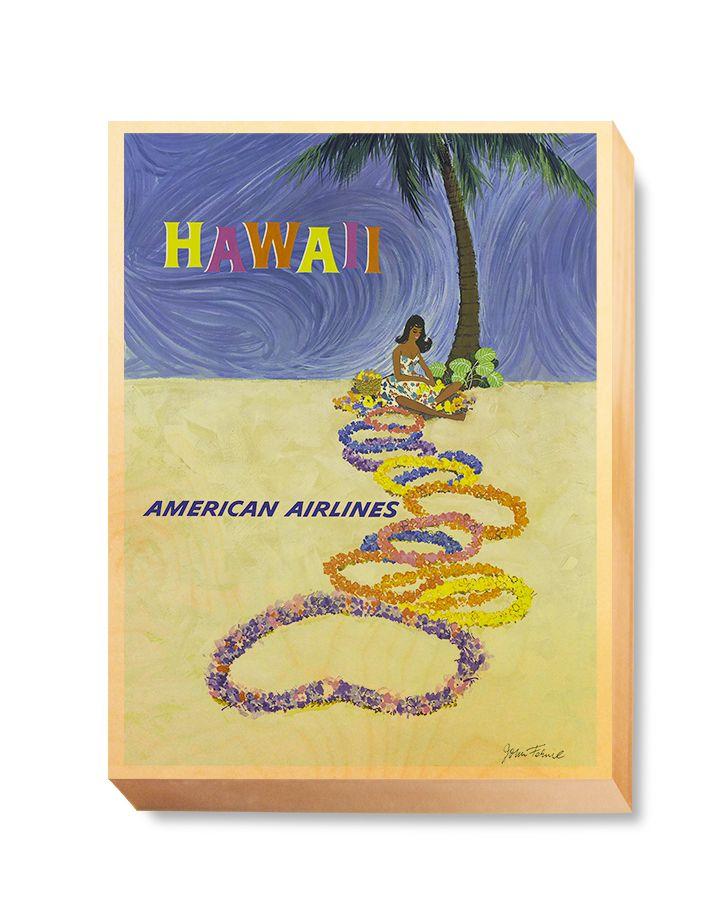 TRV 053 Travel Art Hawaii American Airlines