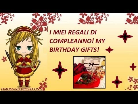 Video tag: I MIEI REGALI DI COMPLEANNO! MY BIRTHDAY GIFTS!