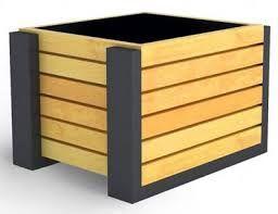 Znalezione obrazy dla zapytania donica drewno metal