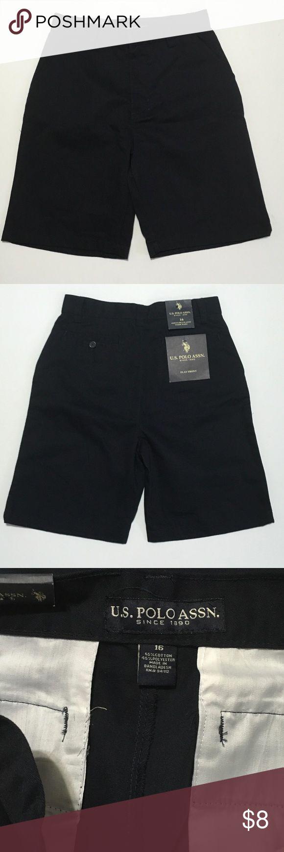 Boys US Polo Assn navy blue uniform shorts size 16 Brand new. us polo assn Bottoms