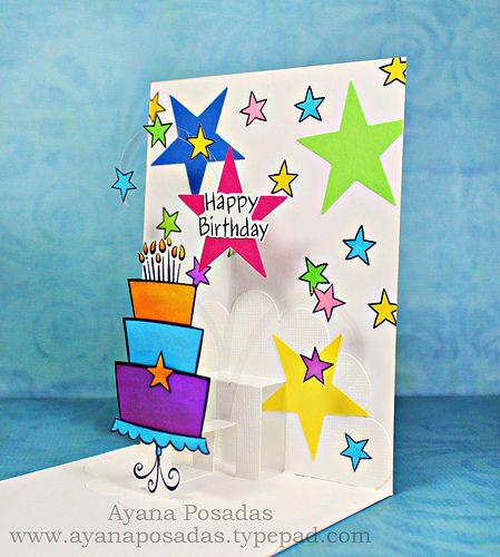 Adorable pop up birthday card! @ayanaposadas