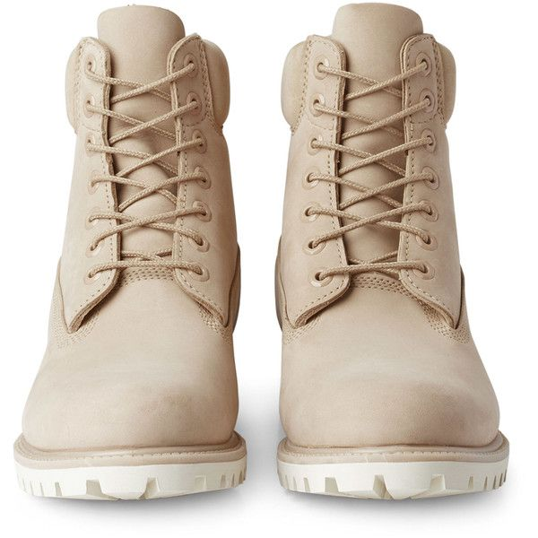 Timberland Premium Boot - Beige - Shoes - Weekday ($245) ❤ liked on Polyvore featuring shoes, boots, beige boots, waterproof footwear, timberland footwear, water proof work boots and waterproof work boots