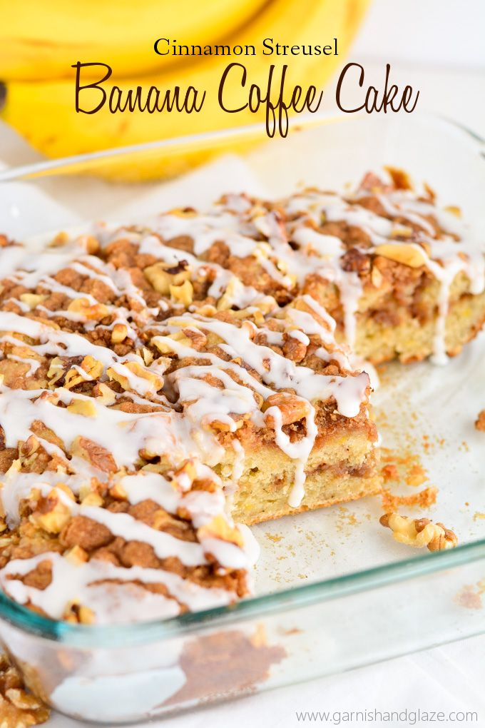 Cinnamon Streusel Banana Coffee Cake is the most delicious way to use up those over ripe bananas you have laying around.