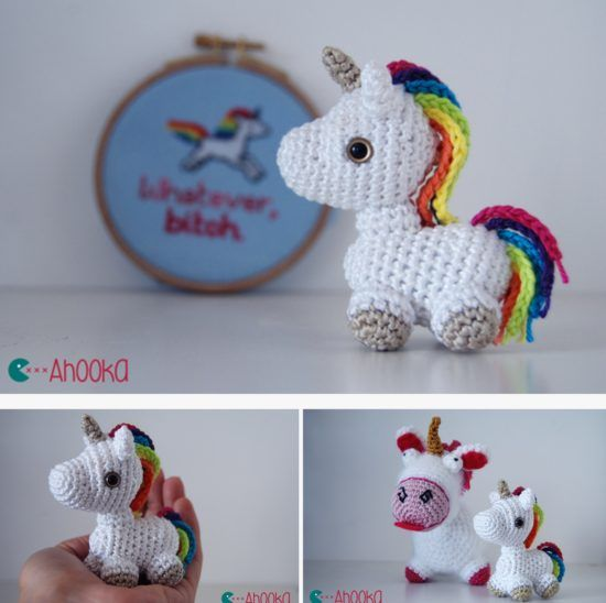 Unicorn Crochet Patterns The Most Adorable Ideas   The WHOot  LOVE THE RAINBLOW MANE AND TAIL