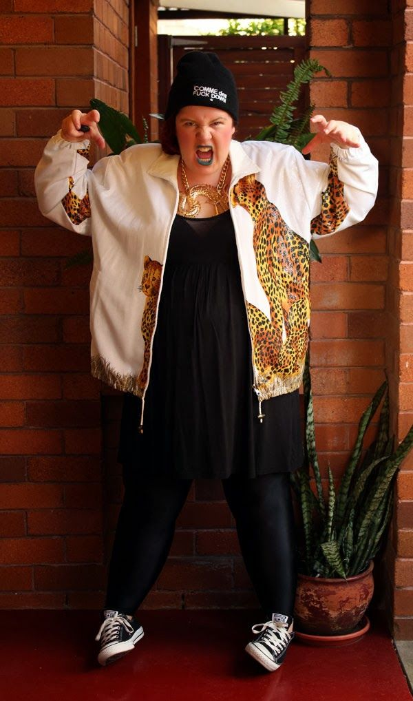 Work it, Own it, Use it! Going all white-trash rapper for the Aussie Curves Animalistic theme