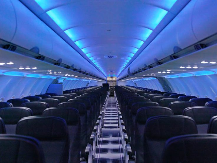 Image result for blue seats aeroplane calm